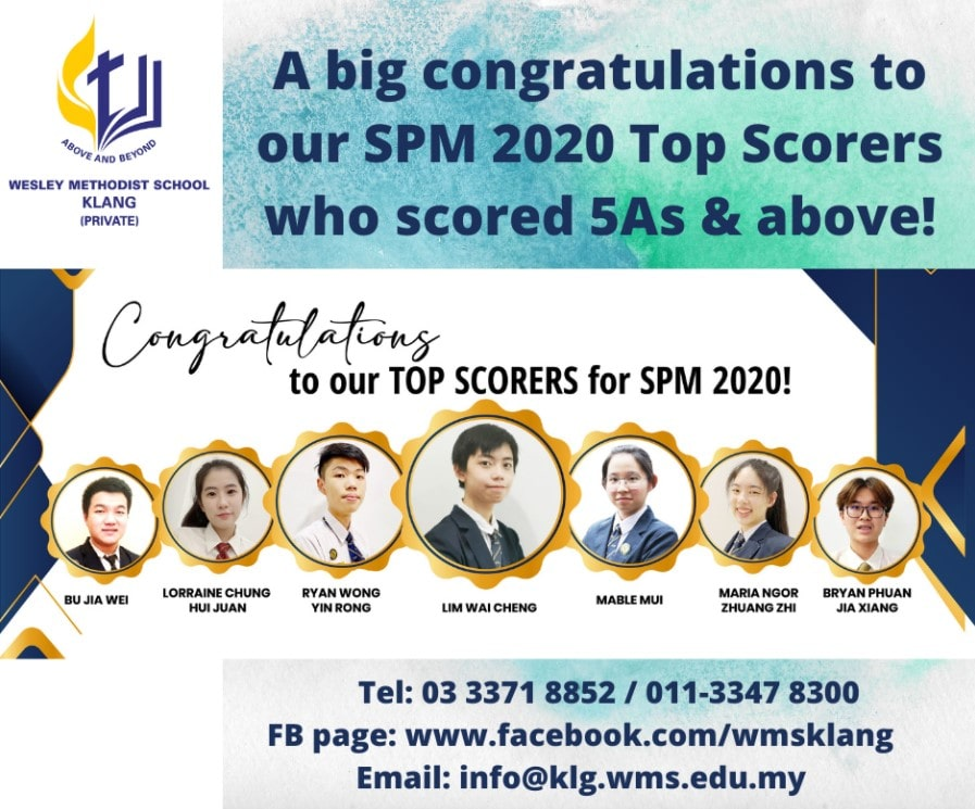 Our SPM 2020 Top Scorers